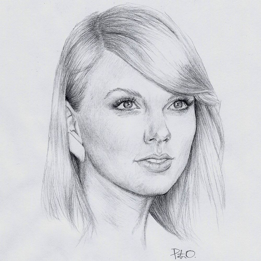 Taylor Swift 0 7mm Mechanical Pencil Taylorswift Taylor Swift Drawing Celebrity Drawings Portrait Sketches