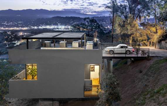 Modern House On Stilts Very Steep Down Slope Terrain Archinspire