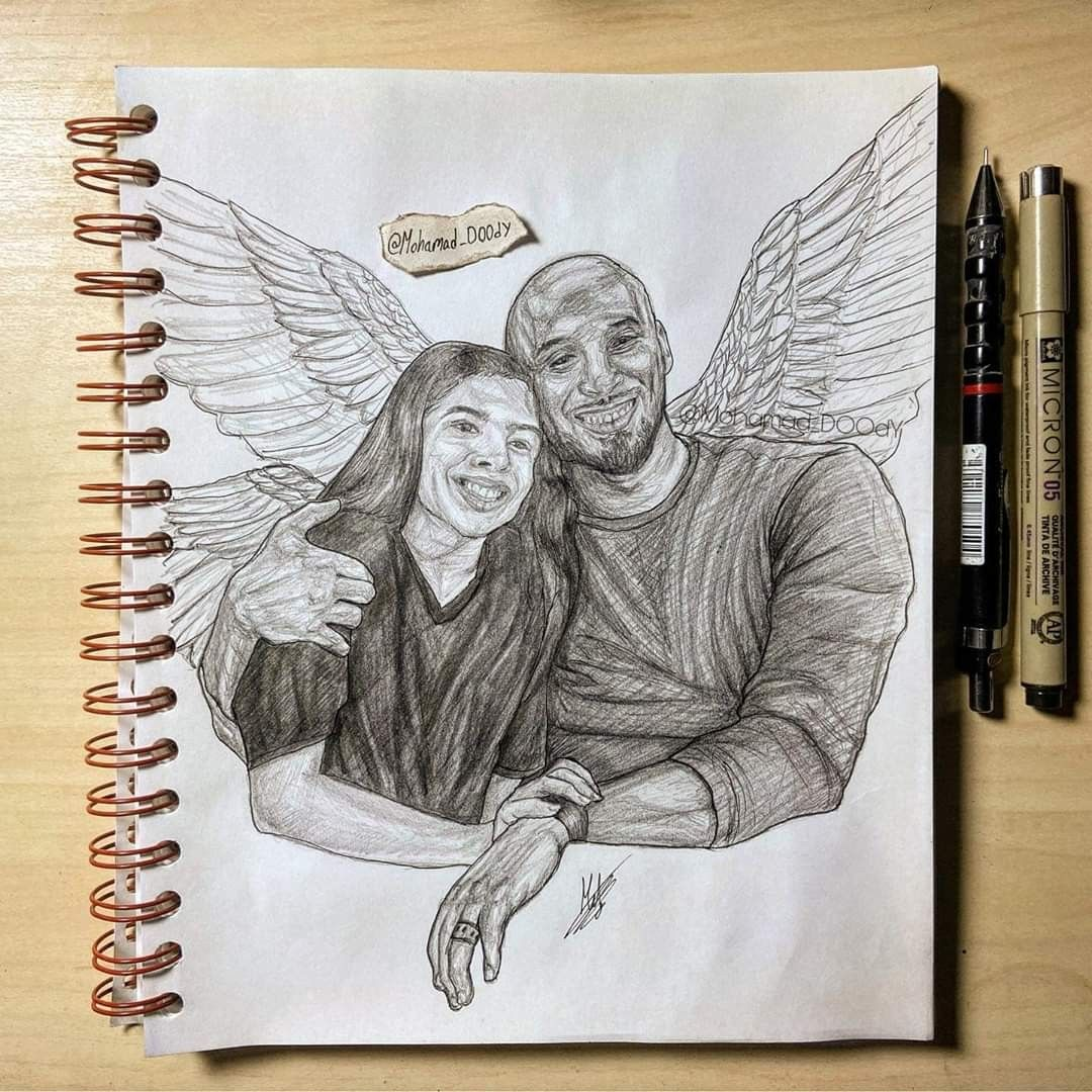 Rip Kobe And Gigi Bryant In 2020 With Images Sketch Book