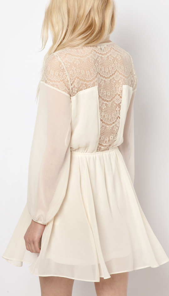 Lace shoulders