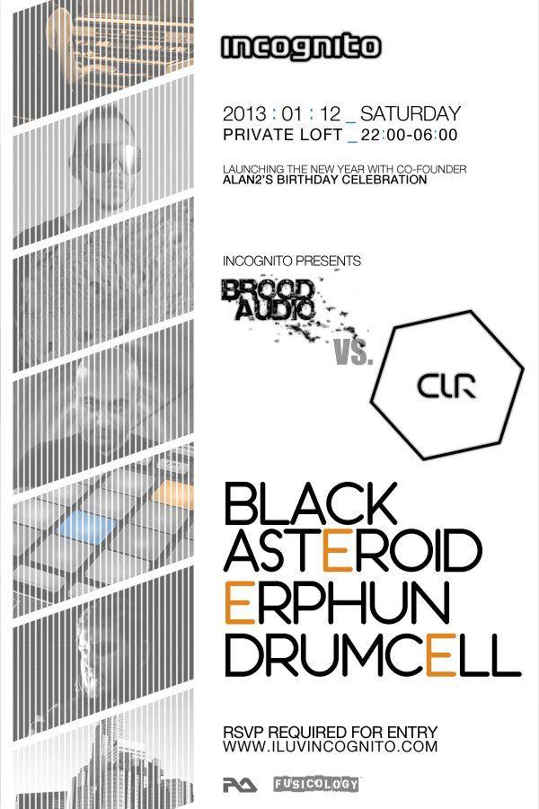 Incognito Presents Brood Audio Vs Clr Feat Black Asteroid At Secret Location Brooding Incognito Secret Location