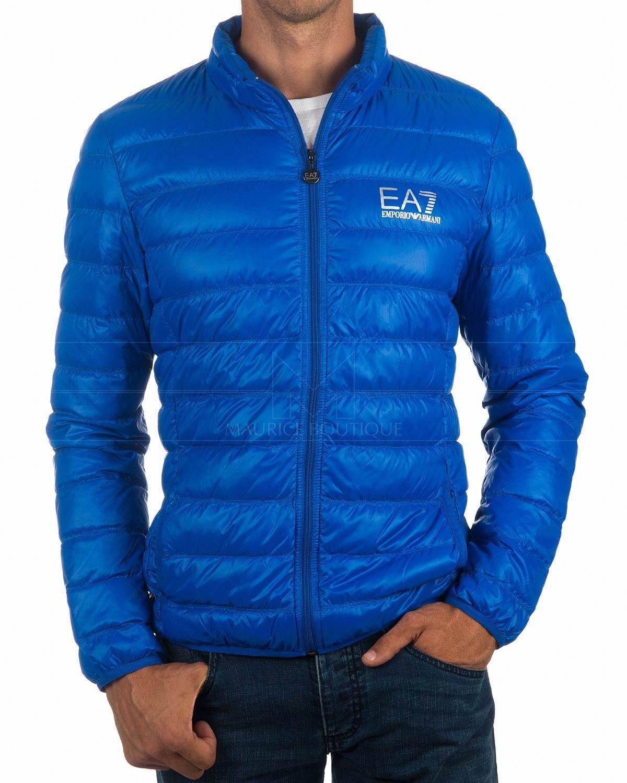 11863af06 Chaquetas EA7 EMPORIO ARMANI ® Hombre Plumas ✶ Azul Royal | ENVÍO GRATIS