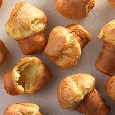 Gluten-Free Popovers: These popovers are crisp on the outside, nicely moist within. Their crowned tops leave lots of room for melting butter and jam. And these popovers are so easy, you don't even need to use a mixer.