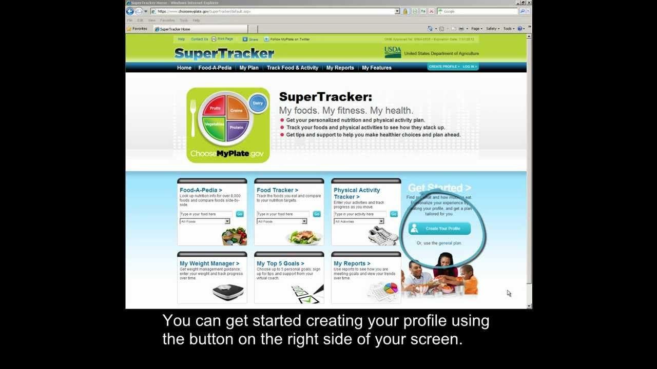 Learn How To Create Profile Using Supertracker Wwwsupertracker