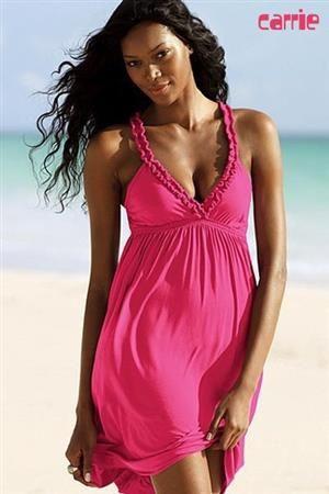 1e7efa9b749b CARRIE Dámské letní šaty s volánky růžové