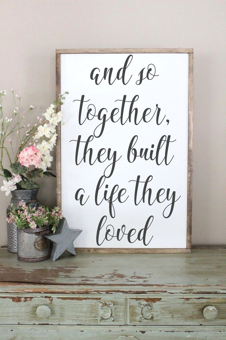 $66 - $184And So Together, They Built A Life They Loved Wood Sign, Framed Sign, Bedroom Wall Art, Co