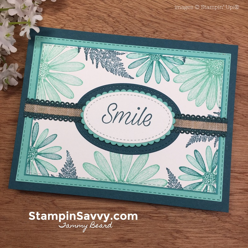 Daisy Lane Retake on Card Sketch 108 - Stampin' Savvy