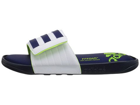 adidas Adissage Comfort FF Collegiate Navy/Midnight Indigo/White -  Zappos.com Free