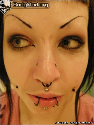 Upper Nostril Piercings. They're just the two on the nose. 18g would be fine.