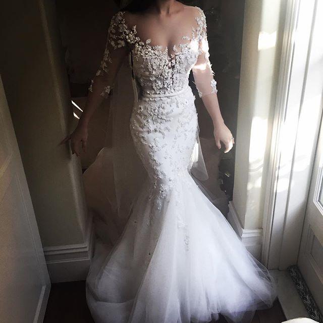 •Krystina• in custom #leahdagloria #couture #bride #bridal #wedding #weddedwonderland