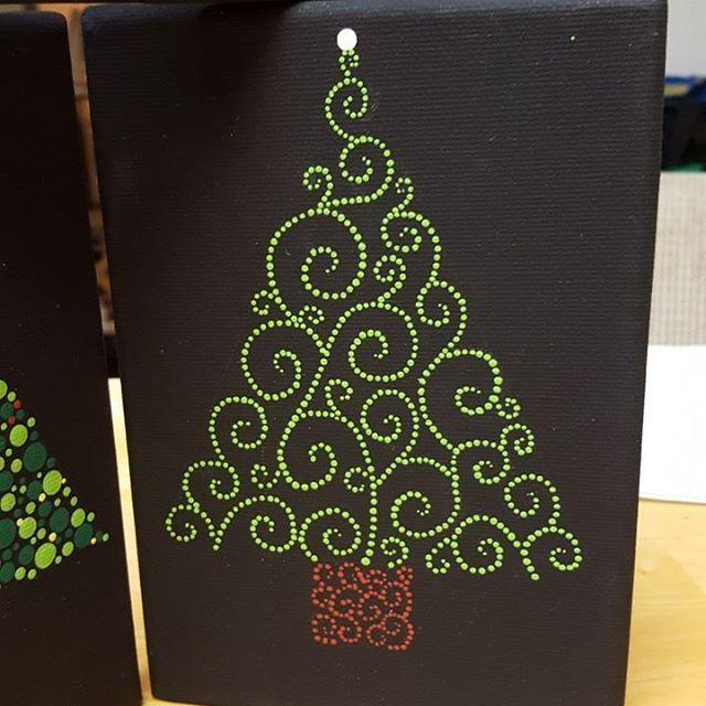 Made With The Mandala Dotting Tools Available Www Diymandalastones Com Xmastree Diymandalastones Christmas Mandala Christmas Tree Painting Dot Art Painting