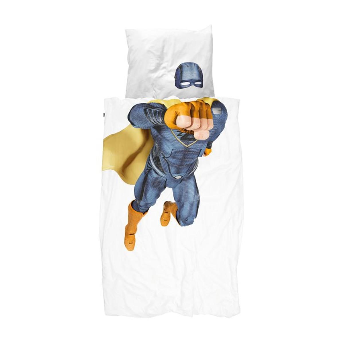 Parure De Lit Super Heros Bleu Taille 140x200 Cm Parure De Lit Jeux De Housse De Couette Housse De Couette