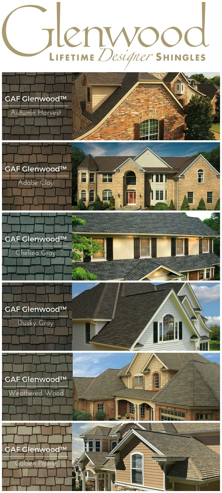 Best Gaf Glenwood Designer Shingles For The House Lots Of 400 x 300