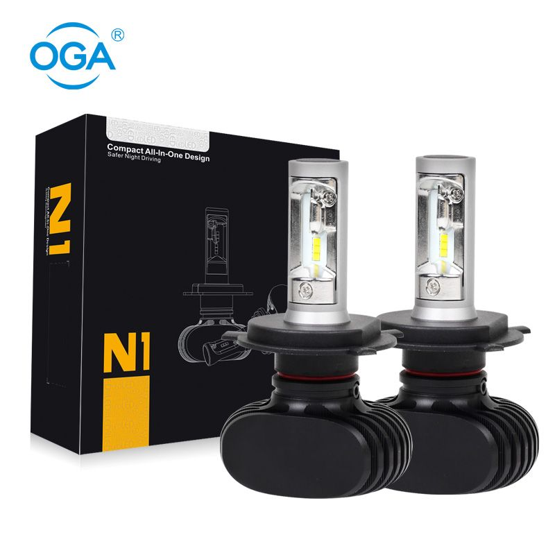 Oga 2 Stks 4000lm 2016 Nieuwe Collectie H4 Hb2 9003 Auto Led Hoofd Lamp Koplamp Conversie Kit Auto Lamp Alle In Een Dc 12 V Led Headlights Cars Car Led Led