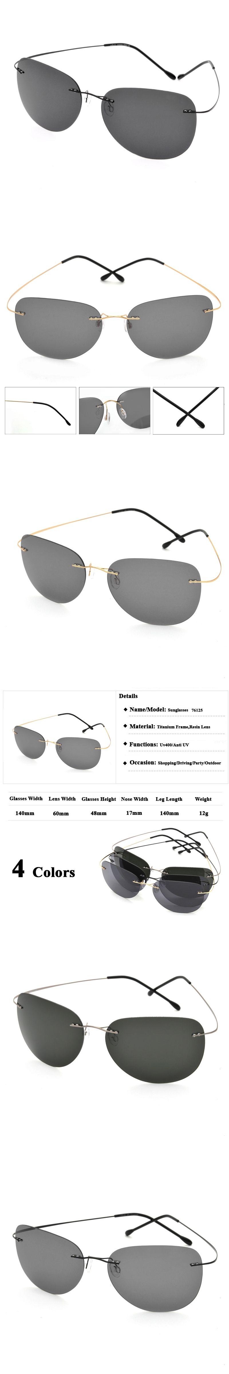 bf1f8d9736 Clearance Sale Item Titanium Alloy Rimless Polarized Sunglasses Ultralight  Super Light Men Mirror Designer Sun Glass