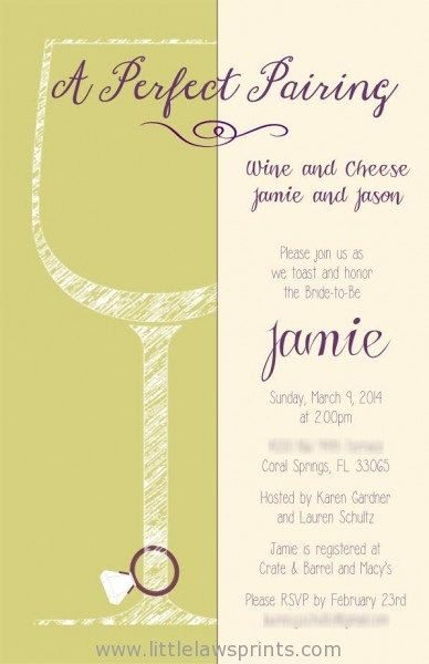 sketch wine and cheese invitation by littlelawsprints on etsy 2595 engagement party invitation wedding bridal