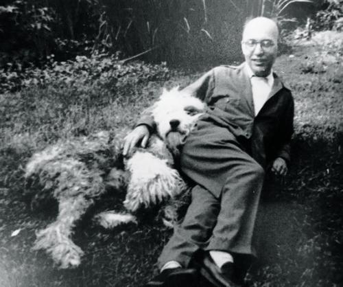 Kurt Weill and his dog