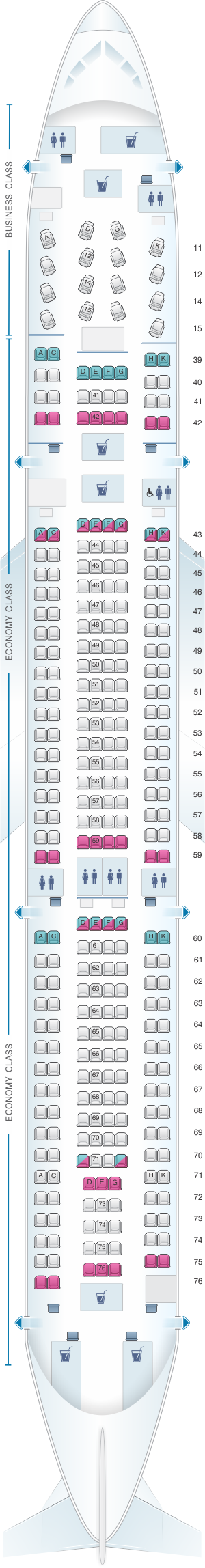 cathay pacific a330 300 seat map Seat Map Cathay Pacific Airways Airbus A330 300 33p Air Transat cathay pacific a330 300 seat map