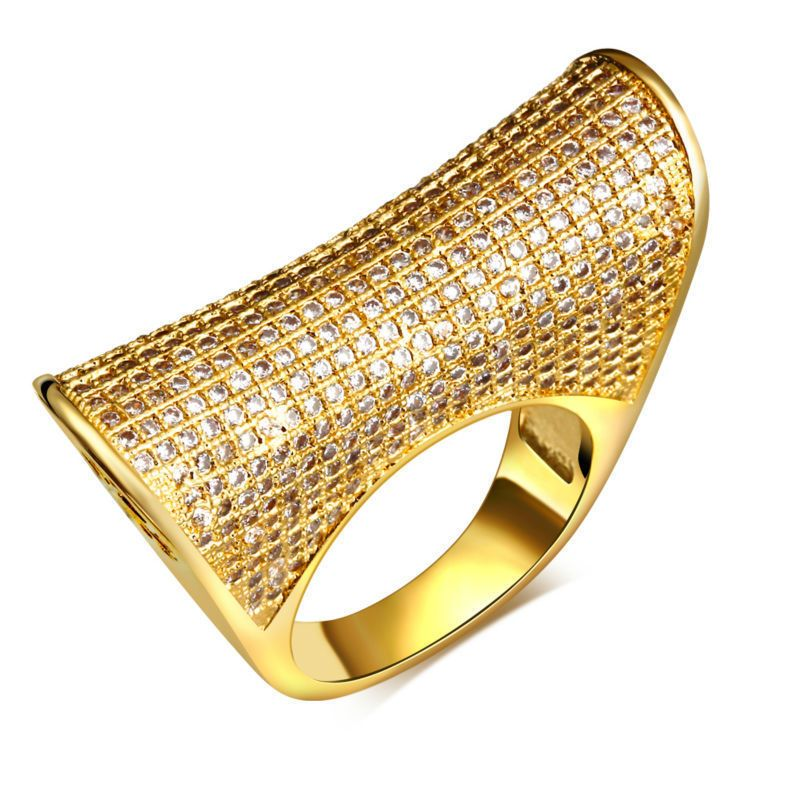 Find More Rings Information about HY 18K Real Gold & White Gold ...