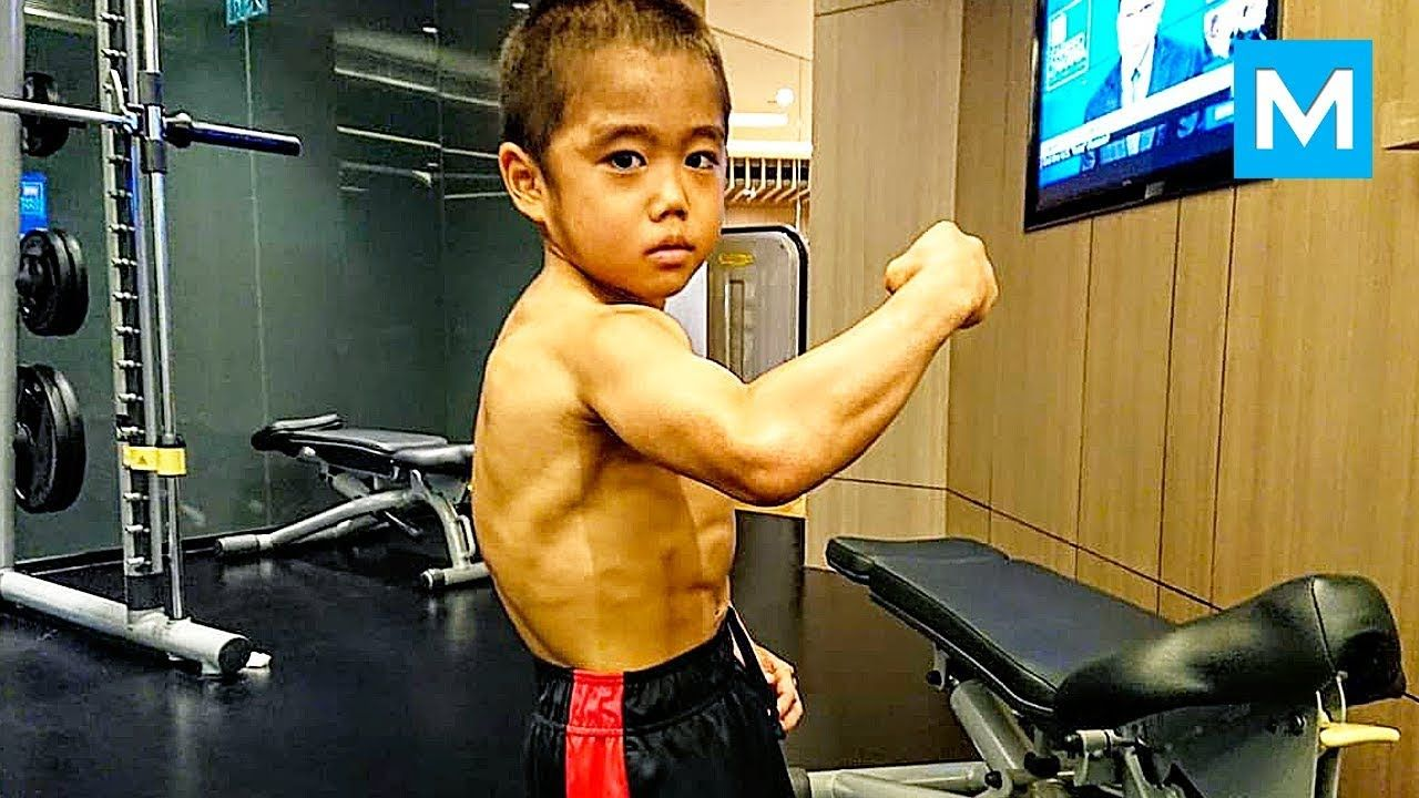 STRONGEST Kid Ryusei Imai Muscle Madness YouTube