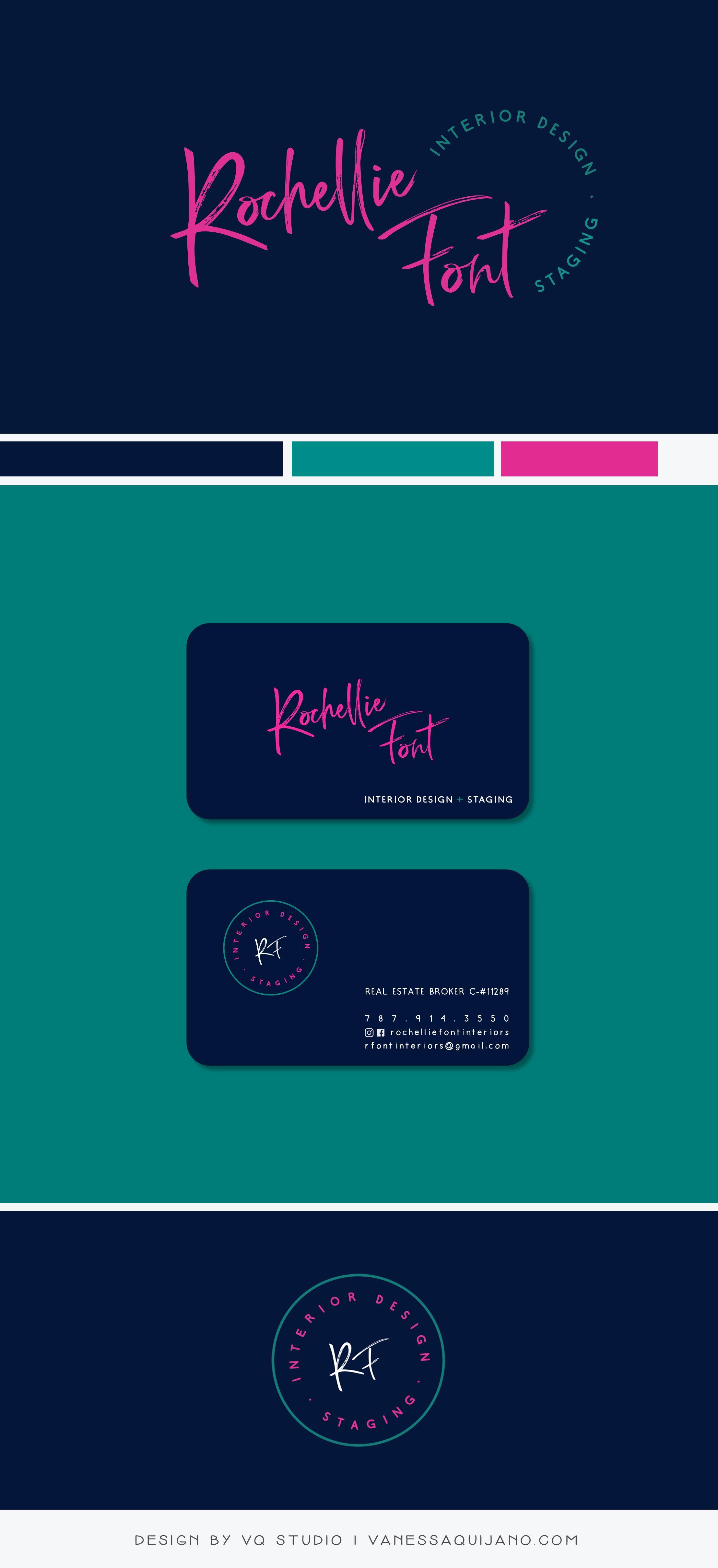 New In Portfolio Rochellie Font Mini Brand Identity Vq Studio