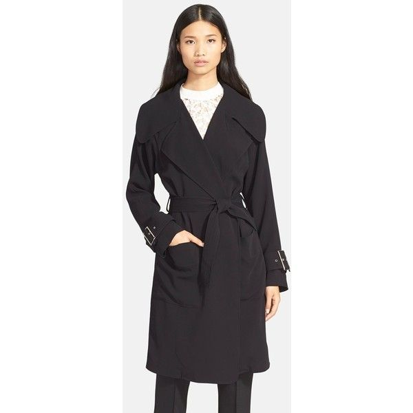A.L.C. 'Engels' Wool Blend Coat (€720) ❤ liked on Polyvore