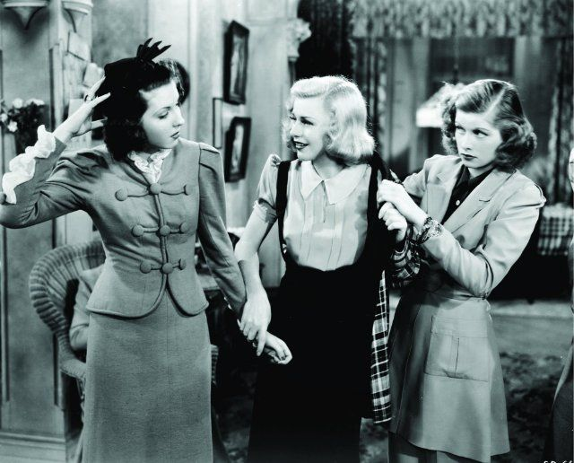 Stage Door, good movie it is an oldie, Lucille Ball and Ginger Rogers, Hepburn, Ann Miller