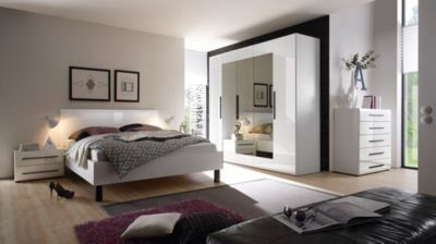 Schlafzimmer-Set mit Bett 180 x 200 cm in Weiss Hochglanz Jetzt ...