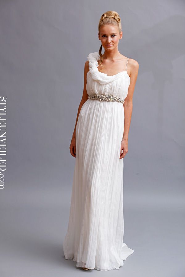 Are you a grecian goddess at heart we think this dress for Goddess style wedding dresses