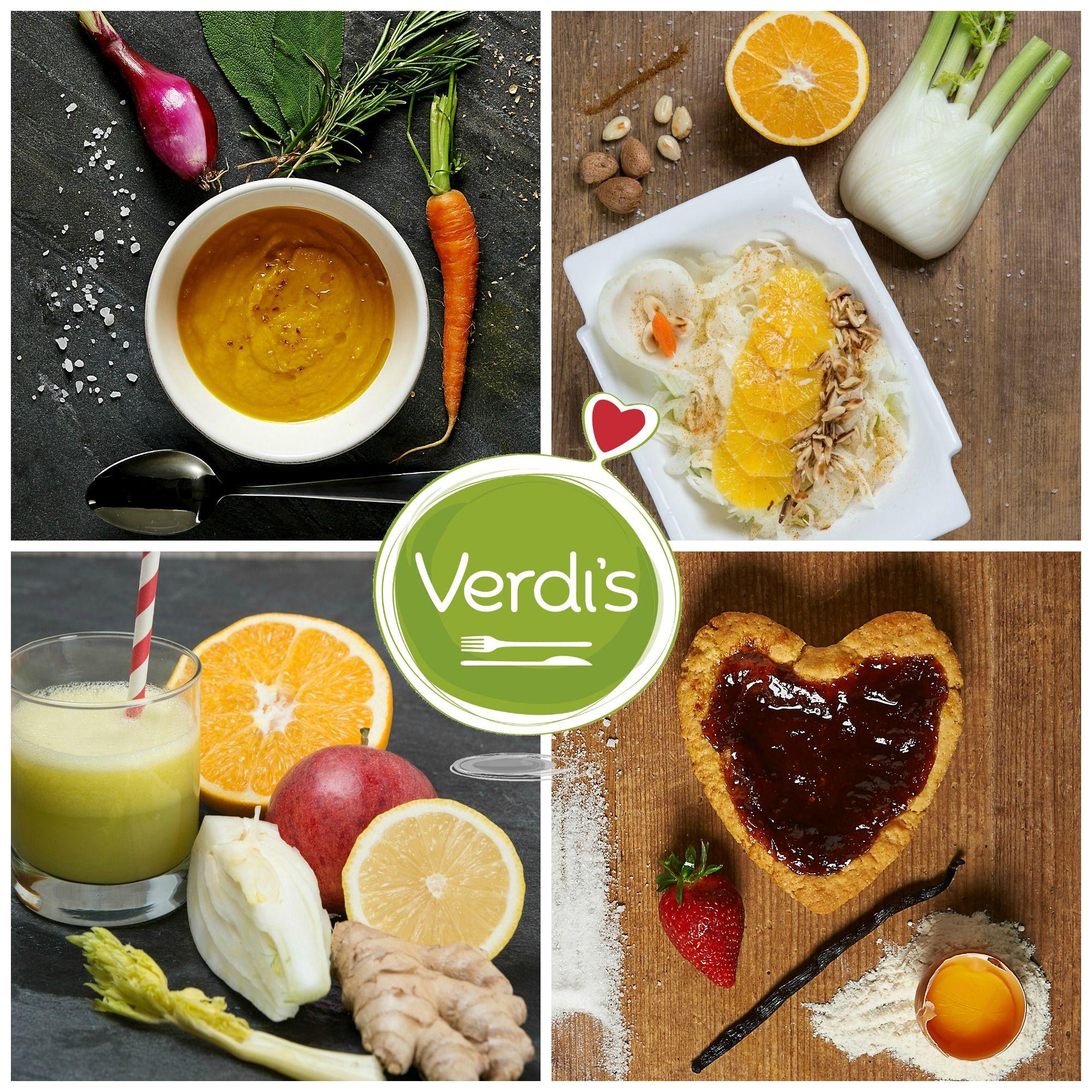 In questa giornata uggiosa fatti coccolare da Verdi's con un golosissimo #pranzo della #domenica ; ) Ti stiamo preparando piatti #stagionali deliziosi, come una #zuppa di carote zenzero e arancia, che è un'esplosione di gusto e di salute, oppure l'insalata #vegana con finocchi, arance, mandorle, carote e mele.  In this gloomy day let us pamper yourself  with a delicious #Sunday #lunch ; ) #healthy #good #food #