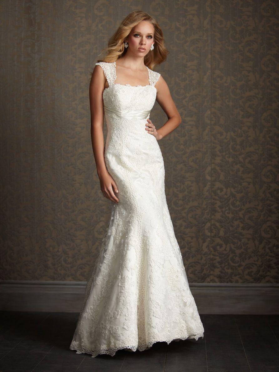 Yellow dress to wedding  Allure Bridals P Lace Wedding Dress  Wedding Gowns  Pinterest