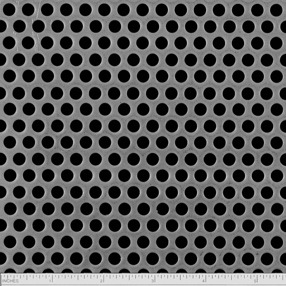 Perforated Cold Roled Steel Sheet Has A Round Hole Staggered Pattern Hole Size Is 1 4 Inch Stagger Is 3 8 Inch Center To C Perforated Metal Metal Sheet Metal