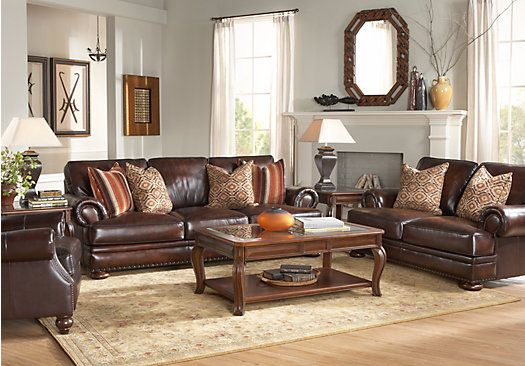Shop For A Kentfield Leather 5 Pc Living Room At Rooms To