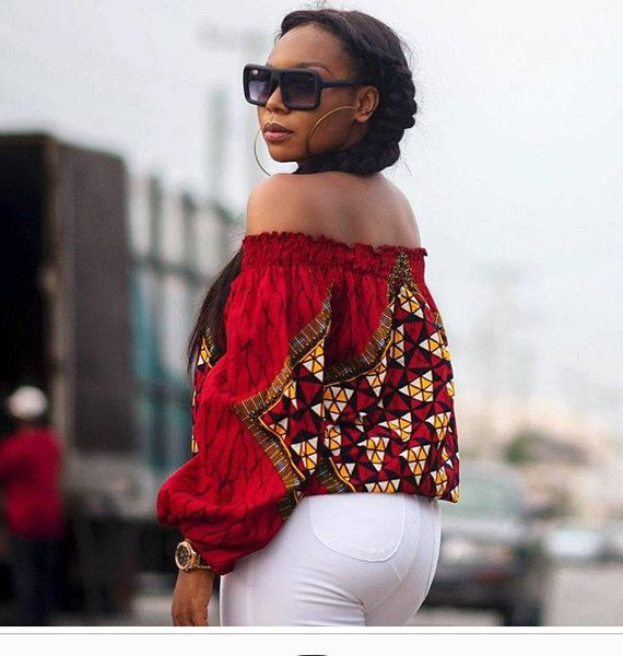 88db637ac Off the shoulder African top, African print off shoulder, Ankara Off  Shoulder, Ankara Top, African t