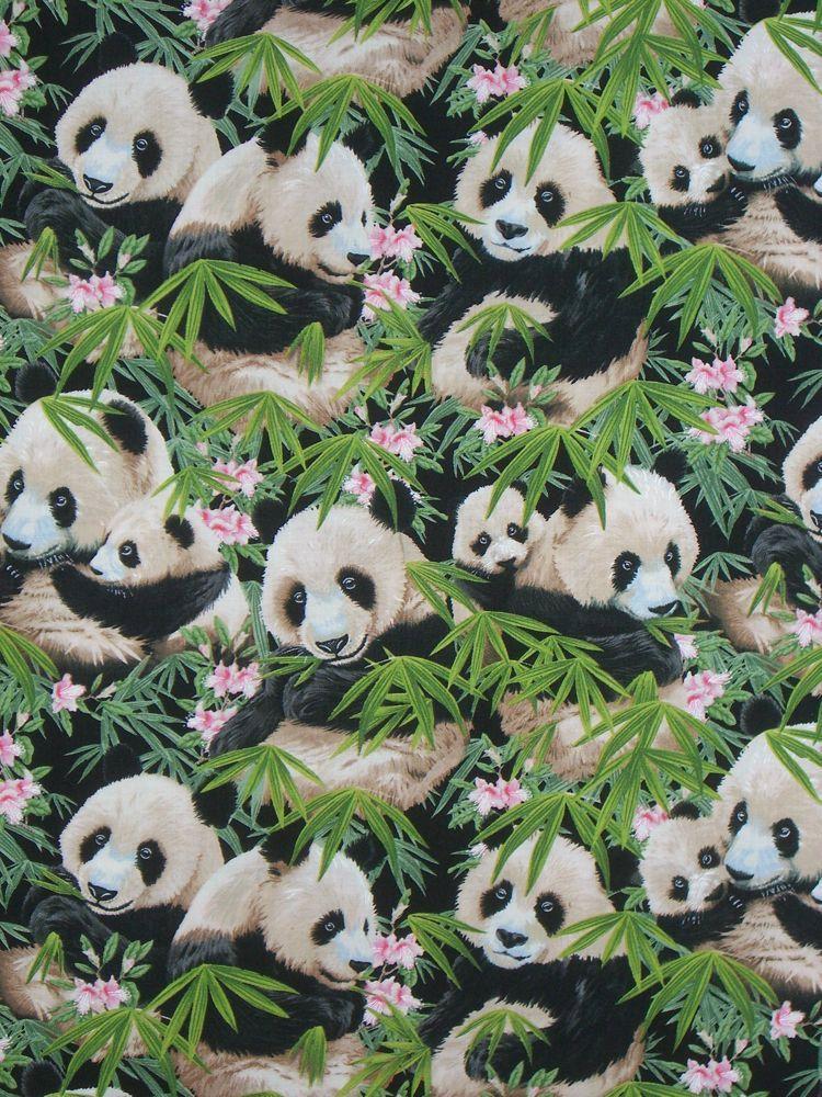Panda Print Pure Cotton Fabric from Elizabeth Studio--One Yard. $9.98, via Etsy.