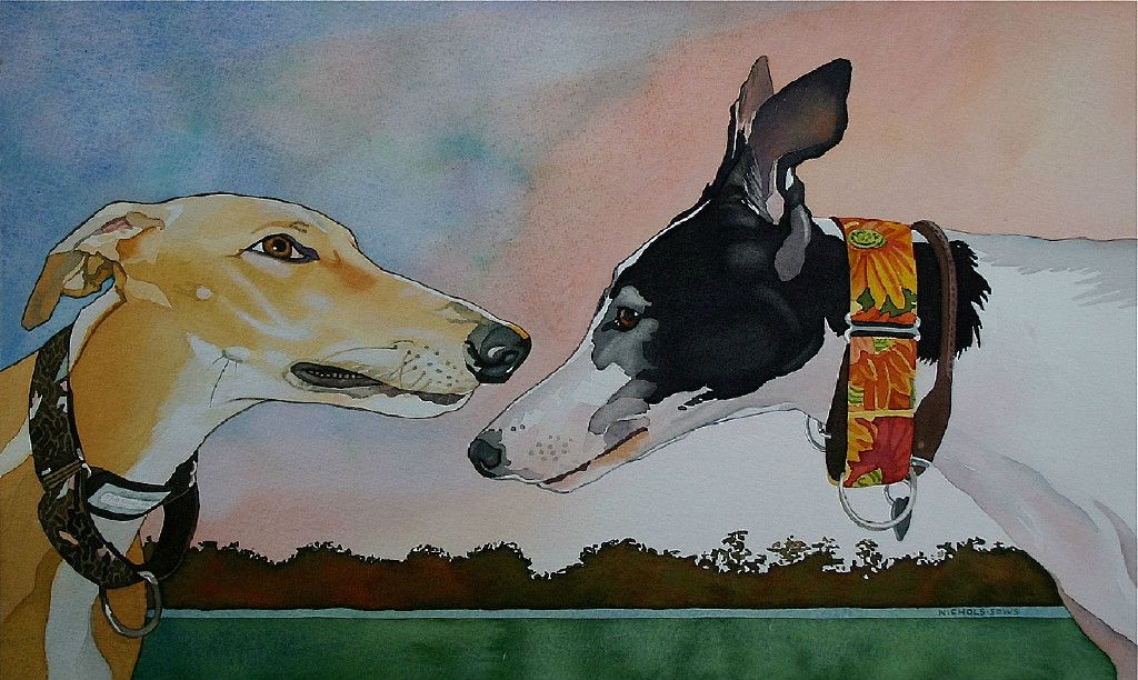 8a54a50efa1 Water Colors Greyhound Art