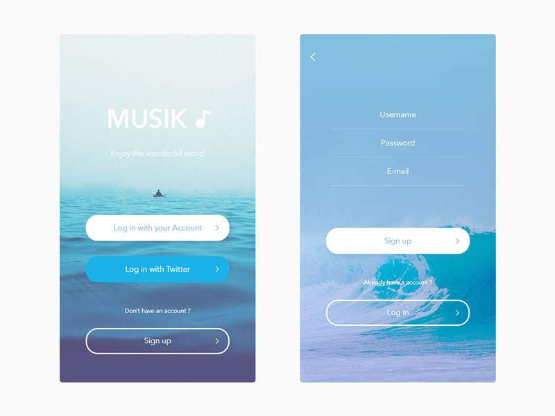Log in / Sign up | TradeCraft | Ios app design, App login