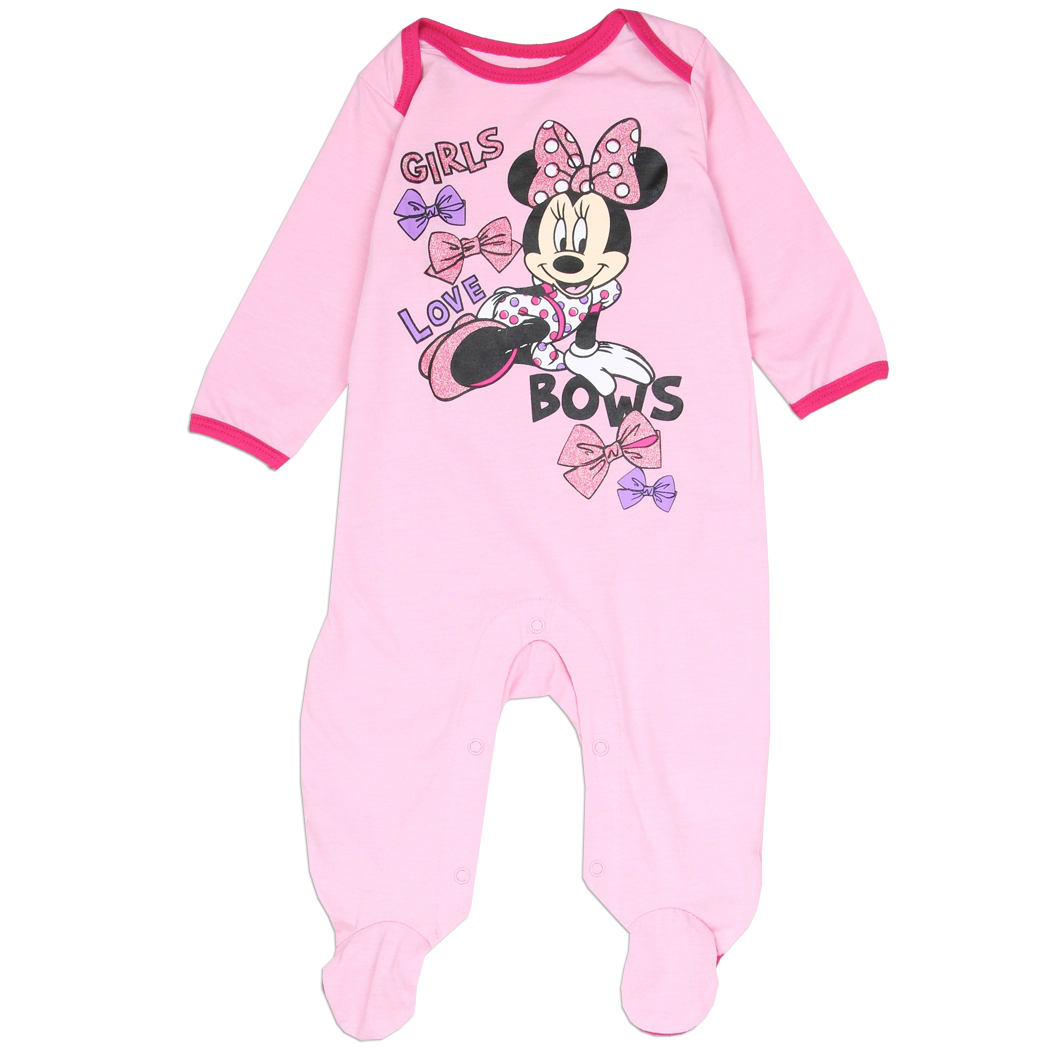 96922c2d9 Minnie Mouse Newborn Baby's Girls Love Bows Onesie | Minnie Mouse ...