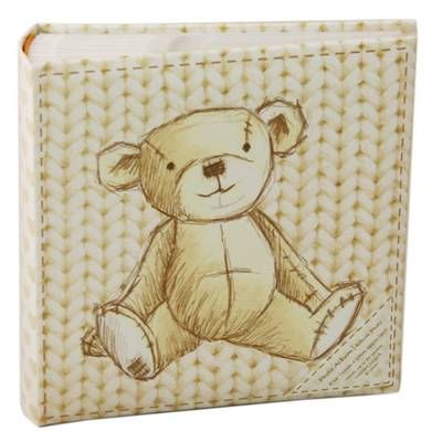 A simply gorgeous photograph album with a sketched teddy design on both the front and back. Holds approximately 80 photos! A really pretty keepsake to remember your little one(s)!