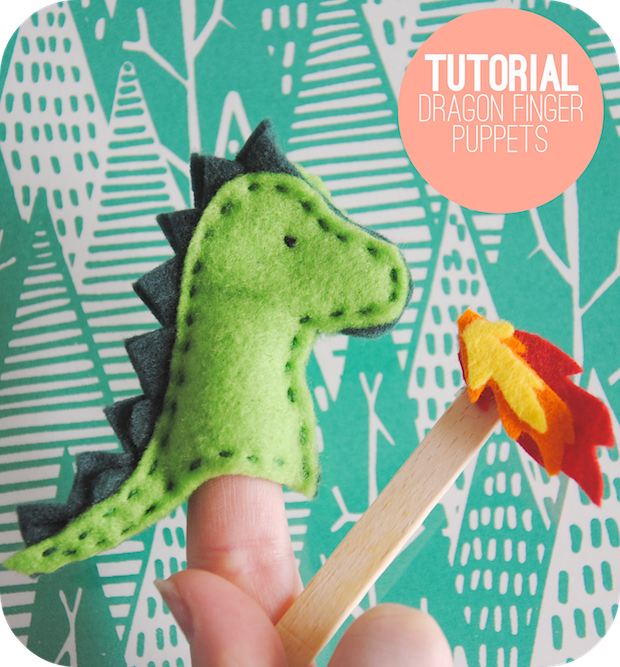 How-To: Dragon Finger Puppet #feltdragon