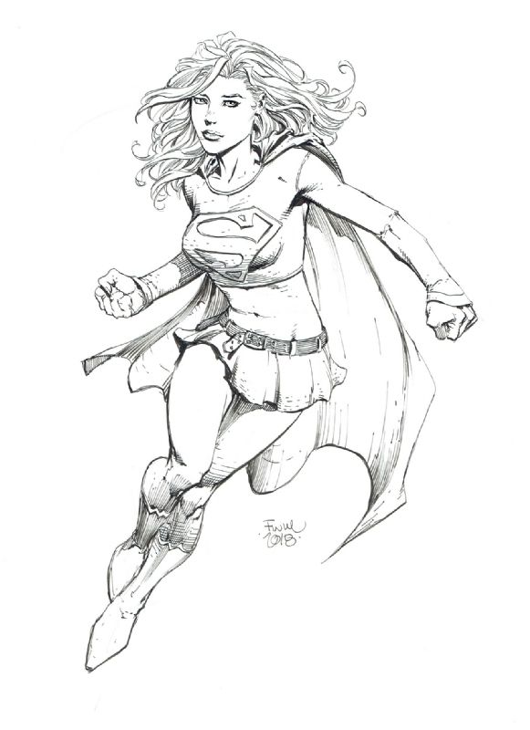 Supergirl By David Finch Con Imagenes Heroe Dibujos