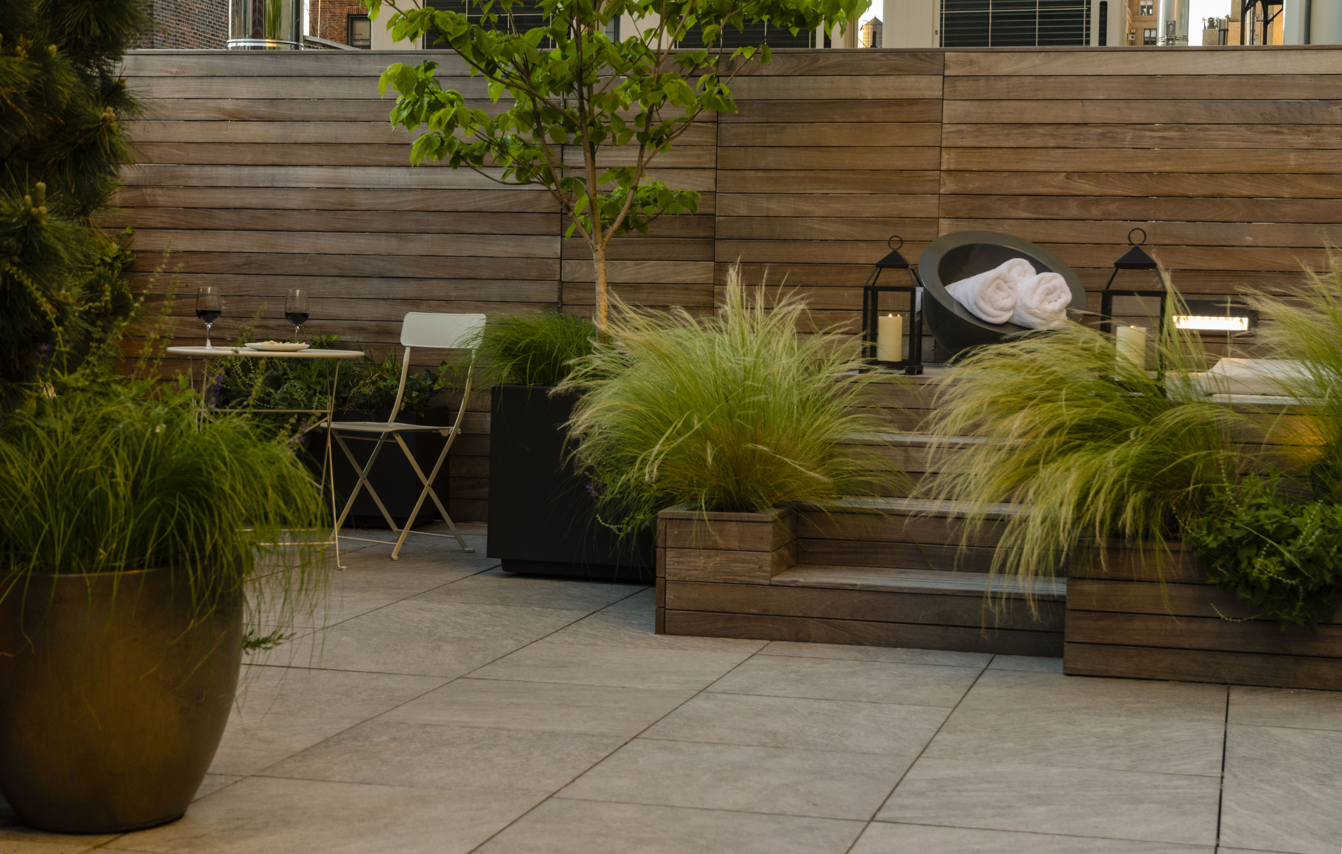 Landscape And Spa Design, Upper West Side, Ny By Gunn