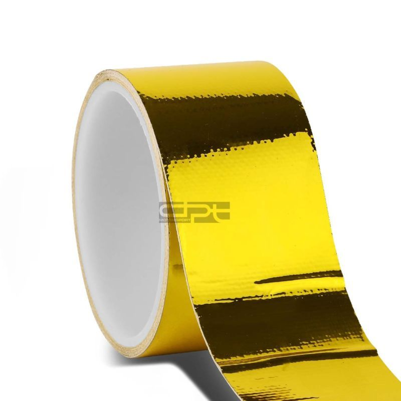 "2/""x30/' Roll Self Adhesive Reflective Gold High Temperature Heat Shield Wrap Tape"
