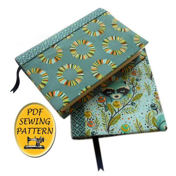 A5 book cover sewing pattern, with free tutorial for any size of ...