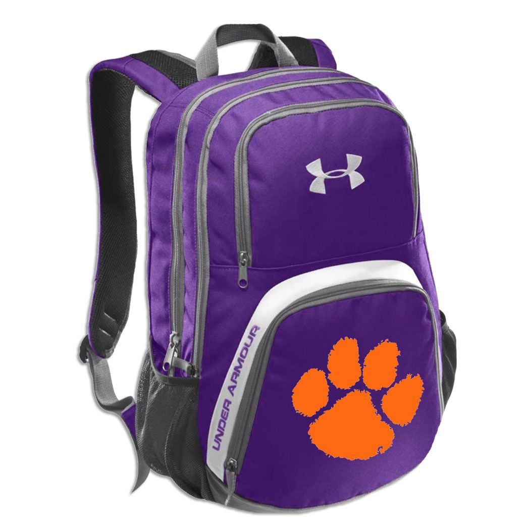 c6c14e3a67 Clemson Tiger Purple Under Armour Victory Backpack.