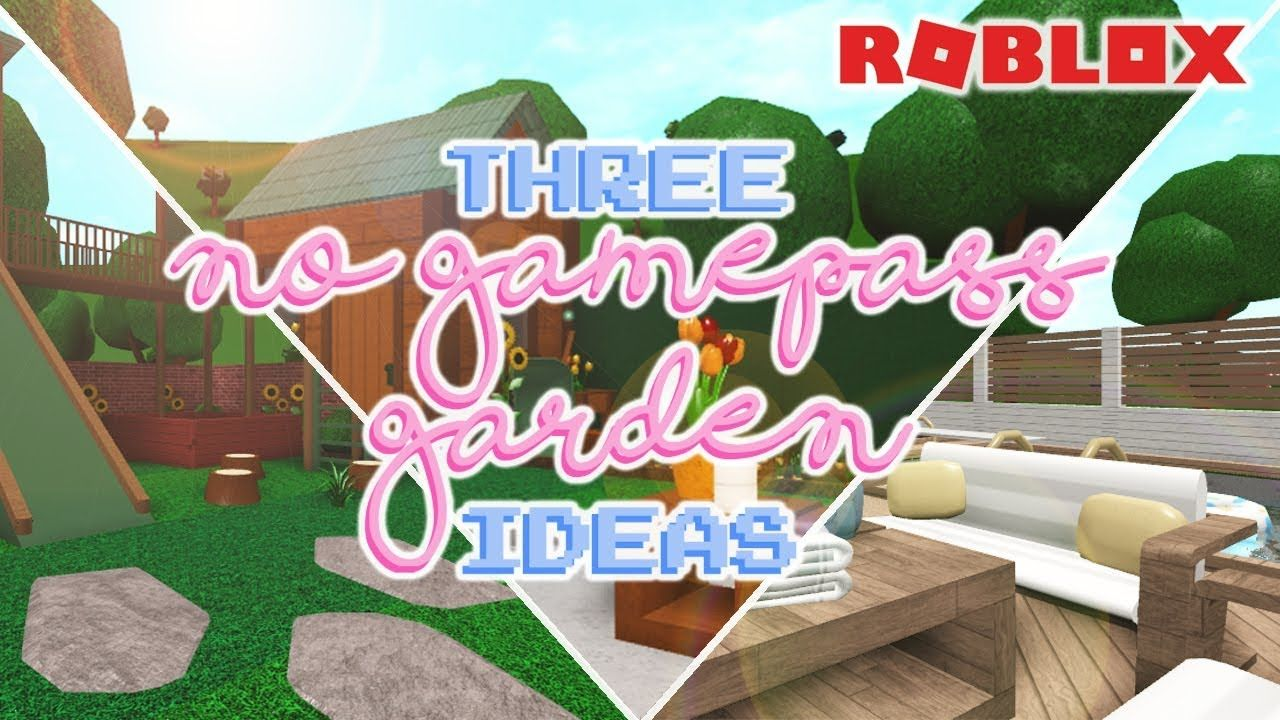 3 No Gamepass Garden Ideas Welcome To Bloxburg Neon Signs Diy Garden