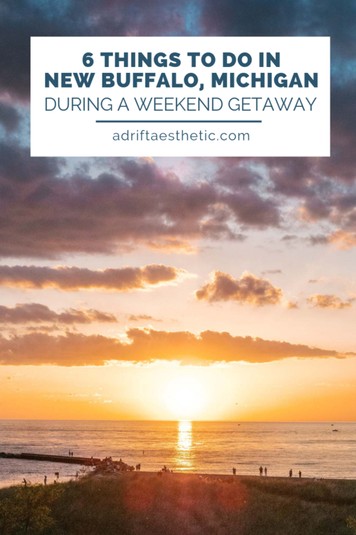 6 Things to Do in New Buffalo, Michigan During a Weekend Getaway to Drift Aesthetic -  New Buffalo, Michigan is the perfect place for a relaxing weekend getaway in the Midwest. With beautiful sunsets in New Buffalo Beach, the amazing food, and lots of fun attractions nearby, you can adapt your time to your own perfect holiday. Take a little bit of ice cream, go for a hike and enjoy the New Buffalo! #michigan #traveldestinations