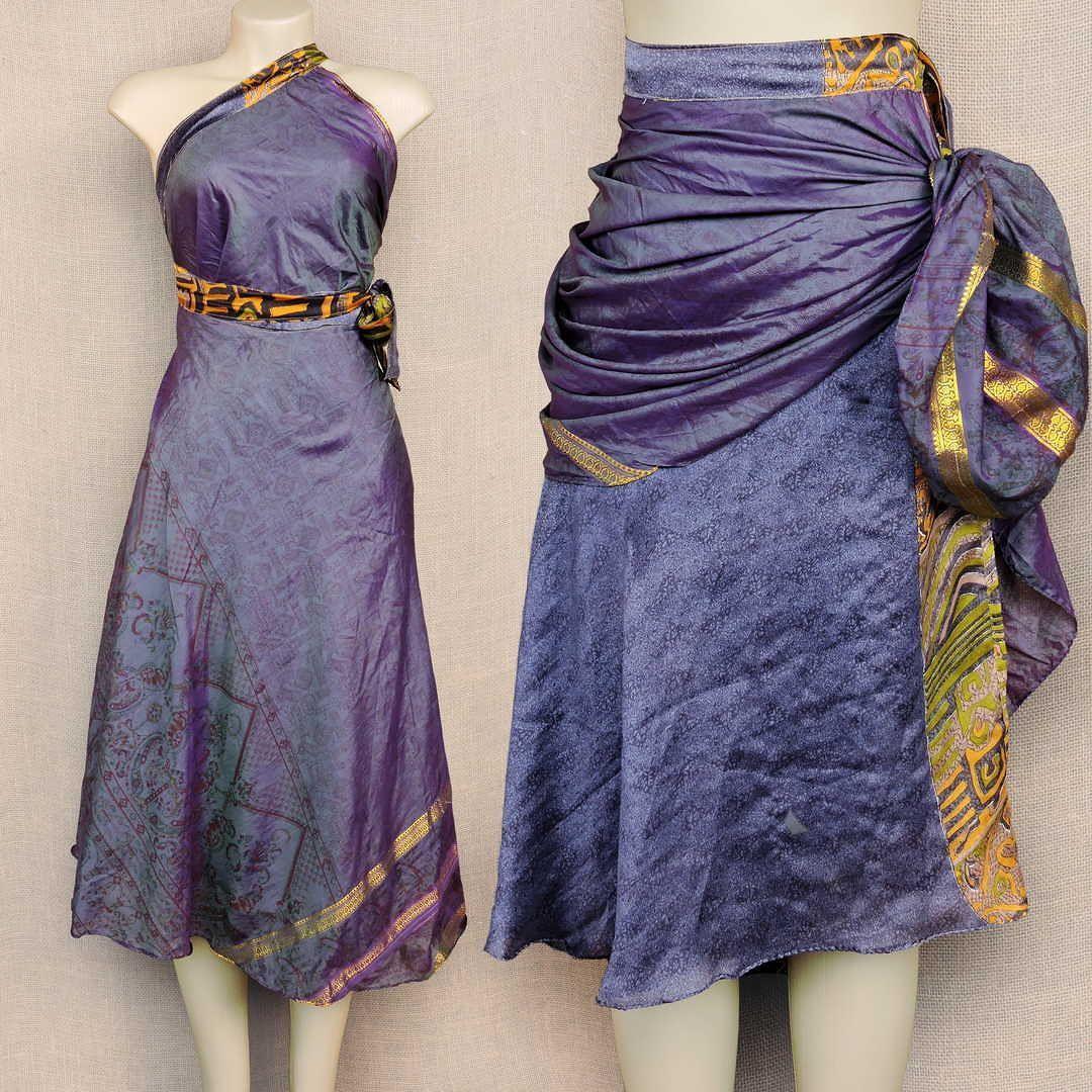 Delicadeza em estampas únicas em uma saia que se veste de diversas ...
