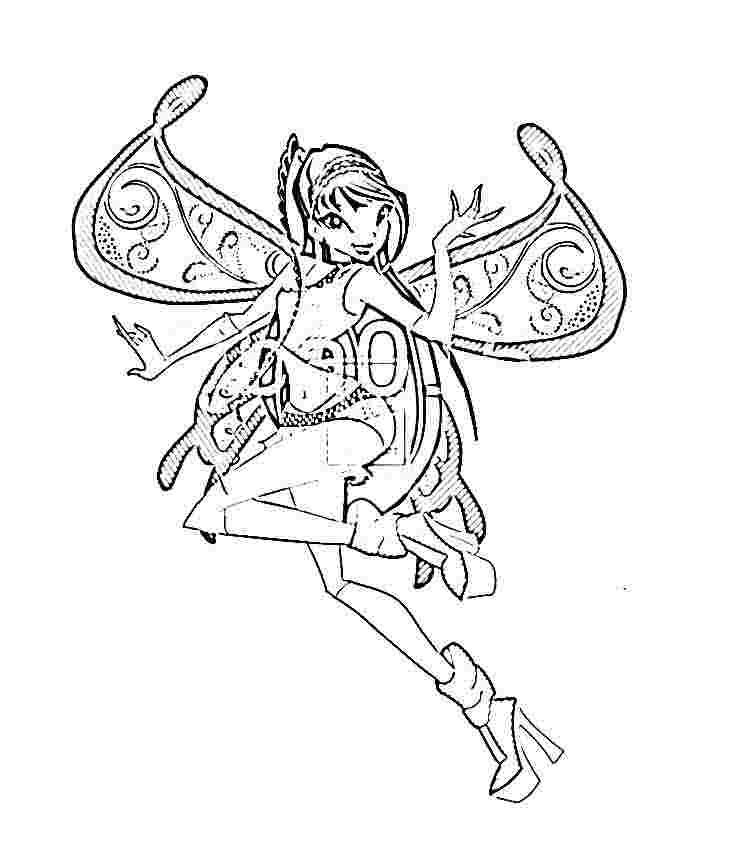 WinX club coloring pages Coloring Pages for kids Pinterest