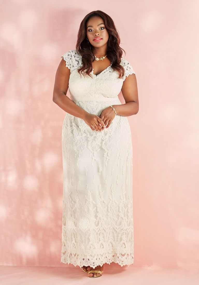 Memorable matrimony maxi dress in ivory in xs cap plus sizes
